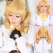 New Tomoe Mami Puella Magi Madoka Magica Curly Cosplay Party Hair Full Wig NW4