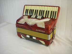 HOHNER VERDI II 96/3 accordéon fonctionnel + valise akkordeon fisarmonica
