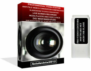 Video Authoring Editor Compressor Converter DVD & Movie Maker Screen Capture USB
