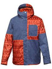 Quiksilver Reyn Mens Snowboard Ski Jacket Insulated Coat Blue Medium 10K