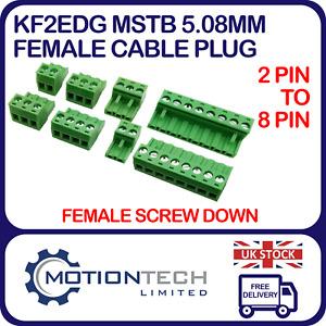 KF2EDG MSTB 5.08mm Female Cable Plug PCB Screw Connector 2-8 PIN CNC 3D Printer