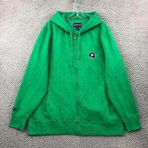 Notre Dame Mens Hoodie 2XL Long Sleeve Full Zip Pocket Sweatshirt Green JanSport