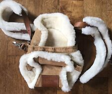 Bill Amber Shearling, Suede, Leather Baby Carrier Papoose