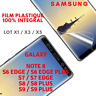 Film Protection Ecran Plastique INCURVÉ Integral pr Galaxy S9/Note8/S7/Edge/S8/+
