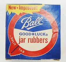 LOT OF 8 BALL GOOD LUCK JAR RUBBERS IN ORIGINAL BOX