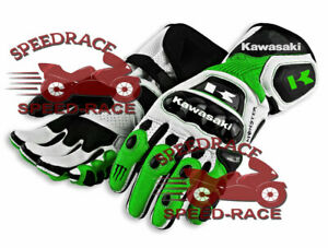 NEW MOTORCYCLE MOTOGP KAWASAKI RACING LEATHER GLOVES