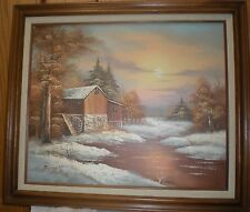Farmhouse painting by Bennett