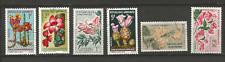 République Gabonaise 6 timbres anciens fleur  /T4527