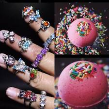Bulk lot 10 wholesale Surprise Ring Jewelry Birthday Cake Bath Bombs Party favor
