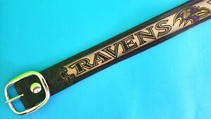 BALTIMORE RAVENS Genuine Leather Belt & Standard Buckle - All Sizes