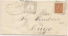 P8812   Ravenna, Bagnara di Romagna, annullo tondo riquadrato, 1894