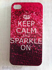 KEEP CALM AND SPARKLE ON Printed iPhone 4/4S Case for Apple