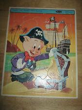 VINTAGE WHITMAN PORKY PIG FRAME TRAY PUZZLE - 1965