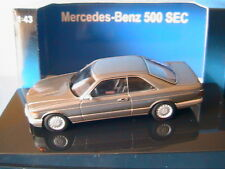MERCEDES BENZ 500 SEC W126 COUPE 1986 ANTRACITE GREY METAL AUTOART 56213 1/43