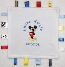 MICKEY MOUSE  *TAGGY*  BLANKET  NEW ~ Personalised FREE