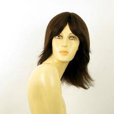 Perruque femme 100% cheveux naturel châtain ref DELPHINE 6
