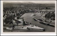 Koblenz Rheinland-Pfalz Postkarte ~1930/40 Teilansicht Deutsches Eck Luftbild-AK