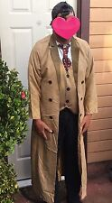 NWT AUTHENTIC BBC 10TH DOCTOR DR WHO DAVID TENNANT COSTUME MENS ADULT XL 44 WIG
