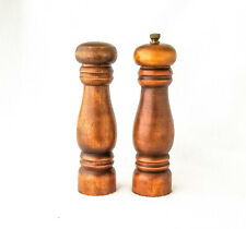 """Wooden Salt & Pepper, 6"""" Traditional Shaker and Mill, Dark Wood Shakers"""