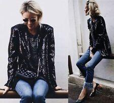 Femme Sequin Blazer Zara Taille S