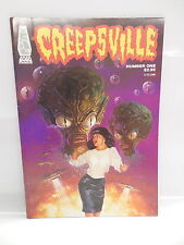 Creepsville Gogo Comic Book #1 Bettie Page Type Aliens Flying Saucers Cover