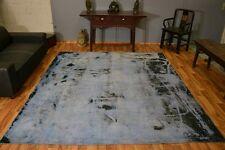 Vintage Teppich Handgeknüpft Kurzflor modern Design Patchwork ca 290x250cm #2020