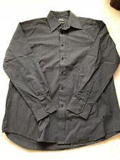 "Mens Black Stripped Thomas Nash Short - Size 16"" Collar"