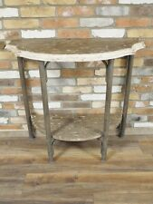 INDUSTRIAL RECLAIMED RETRO VINTAGE WOOD METAL IRON SIDE CONSOLE TABLE (DX4383)