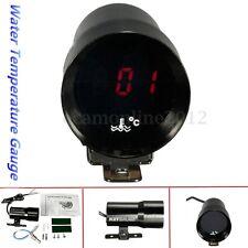 37mm Smoked Car LED Digital Water Temp Temperature Gauge Meter Pointer + Sensor