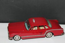 VERY NICE TIN FRICTION CUSTOM BANDAI 1962 PLYMOUTH VALIANT CHECKER  TAXI CAB