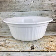 Corning Ware French White Stoneware Round 2.5 Qt Casserole Baking Dish