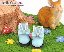 ☆╮Cool Cat╭☆【23-8】Blythe/Pullip Bunny Ears With Bow Mini Ankle Boots # Sky Blue