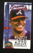Atlanta Braves--Andruw Jones--1998 Pocket Schedule--with Spring Training
