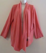 LUCKY BRAND L/S Coral Open Flow Top Jacket Sz Large