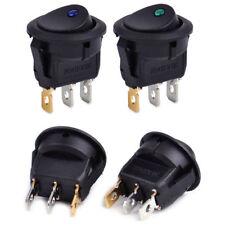 Hot 4Pcs Car 12V 3 Pin Round Rocker Dot Boat LED Light Toggle Switch SPST ON/OFF
