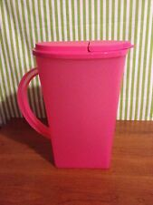 Tupperware Floresta Open House One Gallon Pitcher Pink New
