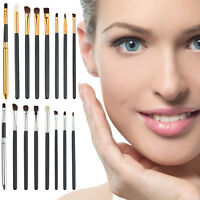 8Pcs Pro Eye Brushes Set Eyeshadow Brow Blending Makeup Cosmetic Brush Tool Kit