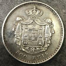 PORTUGAL 500 REIS 1847 Silver argent 14,70 gr