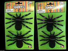 Realistic Life Size-TARANTULA SPIDERS-Gothic Haunted House Props Decorations-4pc