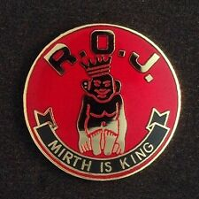 """Royal Order of Jesters """"Mirth Is King Lapel Pin"""" (ROJ-4)"""