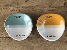 Vintage Takara Beer Sake Ceramic Ashtrays Pair Japan