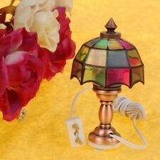 Victorian Style Table Lamp Desk Reading Light 12V for 1/12 Dollhouse Miniature
