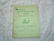 IH International trucks service propelled tube shaft fabrication listing catalog