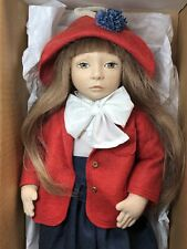 """16"""" Artist Made Maggie Iacono Cloth Doll Painted Face Brunette 42/75 MINT W/ Box"""