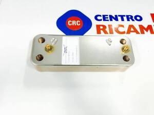 SCAMBIATORE SECONDARIO 14 PIASTRE RICAMBIO COMPATIBILE BAXI CODICE: CRC9991185