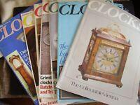JOB LOT X 7 CLOCKS CLOCK HOROGICAL  MAGAZINES 1982 JAN MAR JULY SEPT OCT NOV DEC