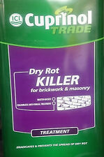 Cuprinol Trade Dry Rot Killer - Anti Fungal - Brickwork Masonry 5 LTR INTERIOR