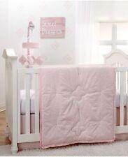 NoJo Chantilly 4 Piece Nursery Crib Bedding Set, Pink, White