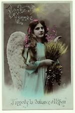 Carte  postale ancienne   Ange   Bonne année   Confiance et espoir   1908