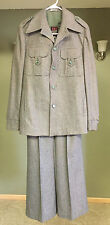 Vintage Europe Craft Import Women's Suit - Size 10 - Brown & Green